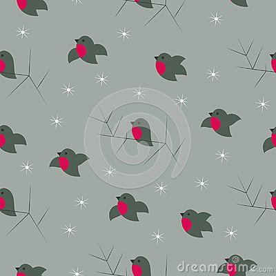 cute bullfinches design