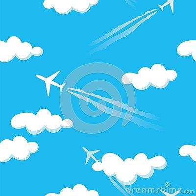 blue sky pattern