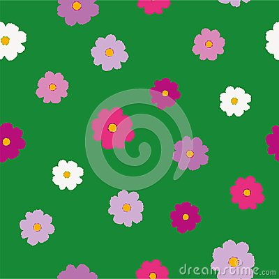 cosmos flower pattern